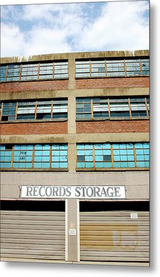 Records Storage- Nashville Photography By Linda Woods Metal Print