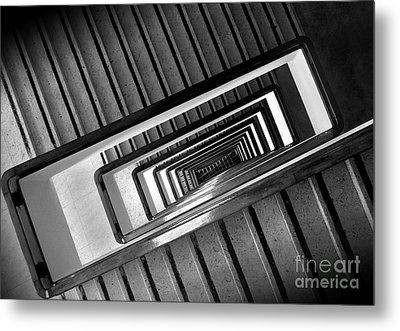 Rectangular Spiral Staircase Metal Print