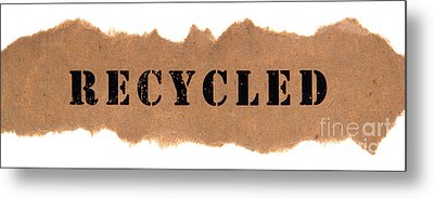 Recycled Metal Print by Olivier Le Queinec
