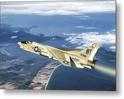 Red 1 Lead Metal Print by Peter Chilelli