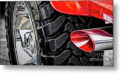 Metal Print featuring the photograph Red 4x4 by Brad Allen Fine Art