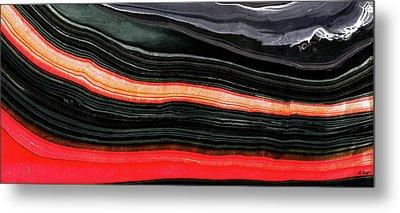 Red And Black Art - Fire Lines - Sharon Cummings Metal Print