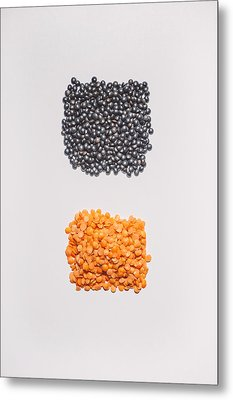 Red And Black Lentils Metal Print