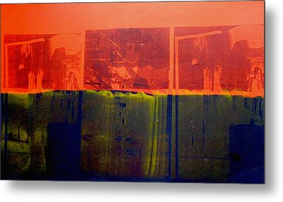 Red And Blue Metal Print by David Studwell