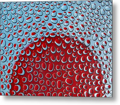 Red  And Blue Drops Metal Print by Vladimir Kholostykh