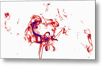 Red And Blue Twirrl Metal Print