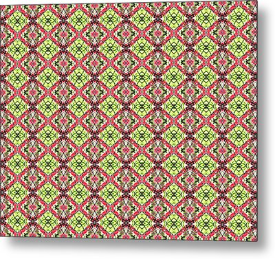 Metal Print featuring the digital art Red And Green by Elizabeth Lock