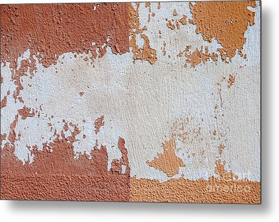 Red And Orange Abstract Metal Print