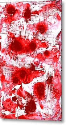 Red And White Metal Print by Anastasiya Malakhova