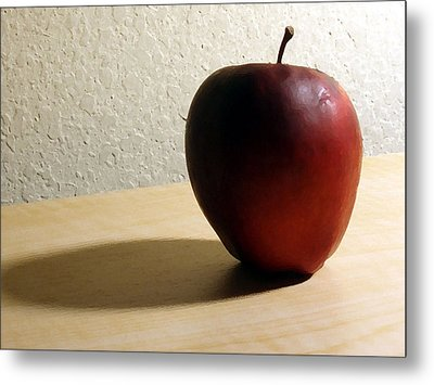 Red Apple Metal Print