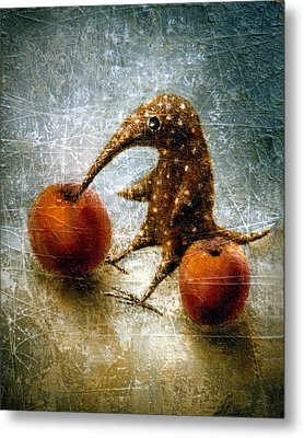 Red Apples Metal Print by Lolita Bronzini