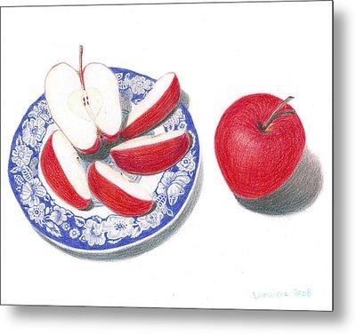 Red Apples Metal Print by Loraine LeBlanc