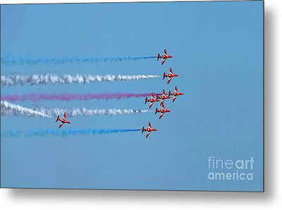 Red Arrows Display 2017 Metal Print