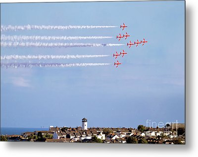 Red Arrows Display Falmouth Metal Print