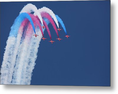Red Arrows Metal Print by Jonathan Simons