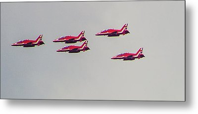 Red Arrows Metal Print by Martin Newman