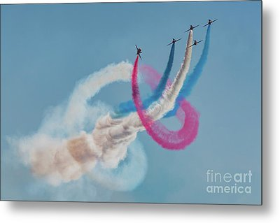 Metal Print featuring the photograph Red Arrows Twister by Gary Eason