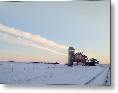 Metal Print featuring the photograph Red Barn by Dan Traun