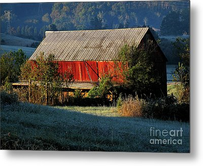 Metal Print featuring the photograph Red Barn by Douglas Stucky