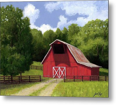 Red Barn In Franklin Tn Metal Print by Janet King