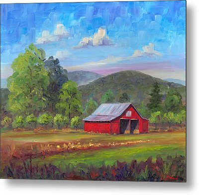 Red Barn In Fruitland Metal Print by Jeff Pittman