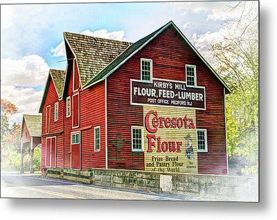 Grist Mill Barn In Medford New Jersey Metal Print by Geraldine Scull