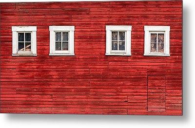 Red Barn Side Metal Print by Todd Klassy