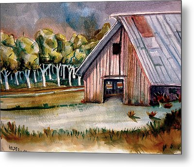 Red Barn Metal Print by Steven Holder