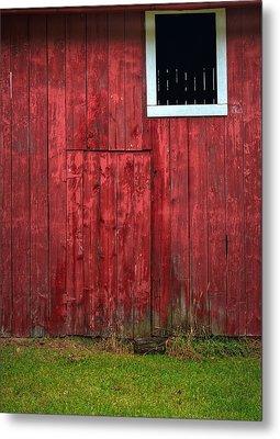 Red Barn Wall Metal Print by Steve Gadomski