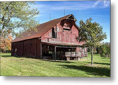 Red Barn Metal Print by William Morris