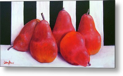 Red Bartletts Metal Print by Colleen Brown