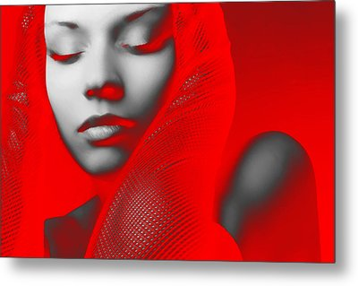 Red Beauty  Metal Print by Naxart Studio