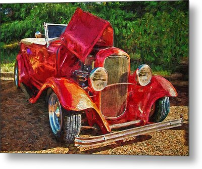 The Red Bell Roadster Metal Print