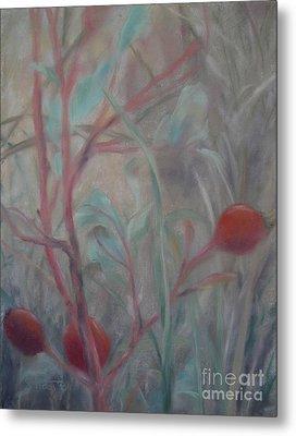 Red Berries I Metal Print by Sabina Haas