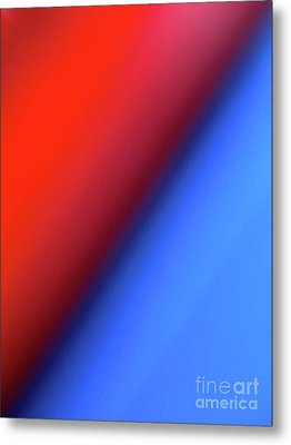 Metal Print featuring the photograph Red Blue by CML Brown