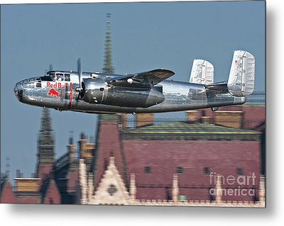 Red Bull North American B-25j Mitchell Metal Print by Anton Balakchiev