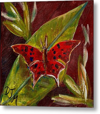 Red Butterfly Metal Print by Dalila Jasmin