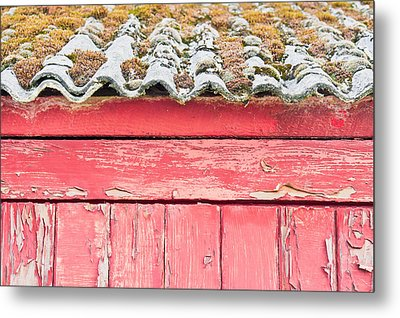 Red Cabin Metal Print by Tom Gowanlock