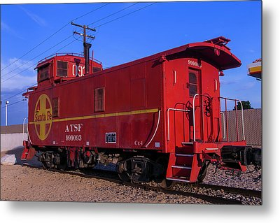 Red Caboose  Metal Print by Garry Gay