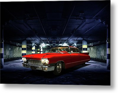 Metal Print featuring the photograph Red Caddie by Steven Agius