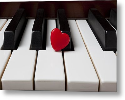 Red Candy Heart  Metal Print by Garry Gay