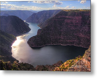 Metal Print featuring the photograph Red Canyon by Spencer Baugh