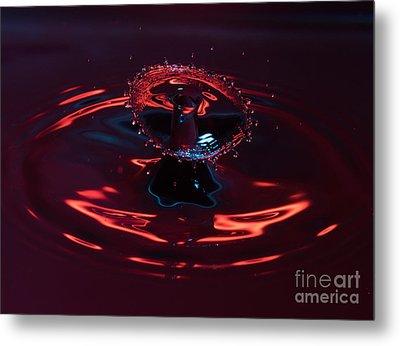 Red Carousel Metal Print