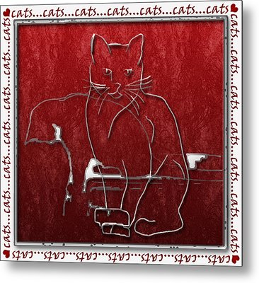 Red Cats Metal Print