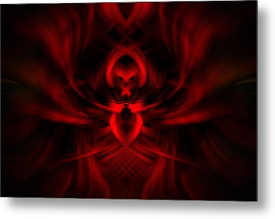 Metal Print featuring the photograph RED by Cherie Duran