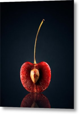 Red Cherry Still Life Metal Print by Johan Swanepoel