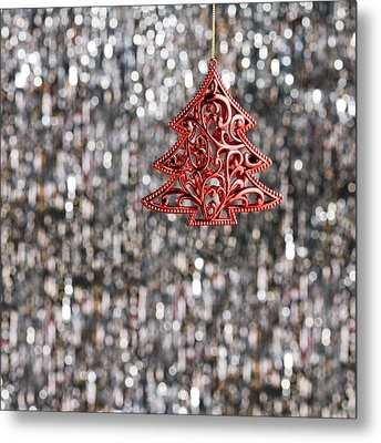 Metal Print featuring the photograph Red Christmas Tree by Ulrich Schade