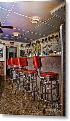 Red Cottage Restaurant Metal Print by Edward Sobuta