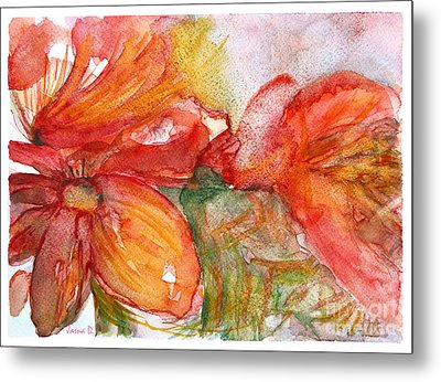 Red Dance Metal Print by Jasna Dragun