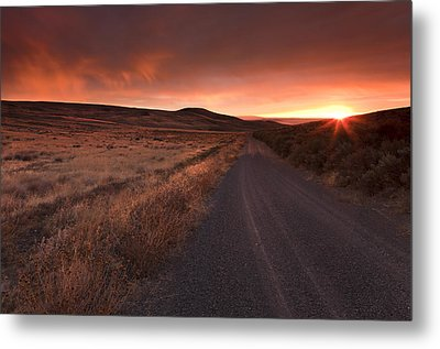 Red Dawn Metal Print by Mike  Dawson